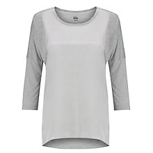 Buy Kin by John Lewis Woven and Silk Raglan T-Shirt Online at johnlewis.com