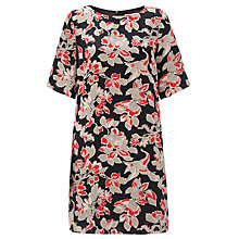 Buy Somerset by Alice Temperley Winter Floral Silk Dress, Red Online at johnlewis.com