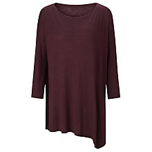 Buy Kin by John Lewis Asymmetric Top, Burgundy Online at johnlewis.com