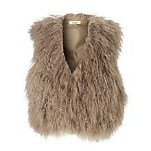 Buy Somerset by Alice Temperley Mongolian Sheep Gilet, Latte Online at johnlewis.com
