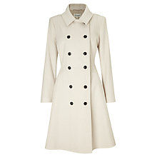 Buy Somerset by Alice Temperley Skirted Coat, Cream Online at johnlewis.com