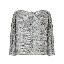 Buy Kin by John Lewis Oversized Textured Jumper, Grey Online at johnlewis.com