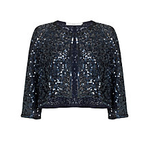 Buy John Lewis Sequin Jacket, Navy Online at johnlewis.com
