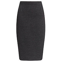 Buy COLLECTION by John Lewis Herringbone Jersey Skirt, Black/Grey Online at johnlewis.com
