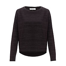 Buy COLLECTION by John Lewis Glitter Round Neck Jumper, Navy Online at johnlewis.com
