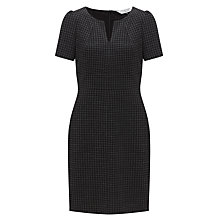 Buy COLLECTION by John Lewis Herringbone Jersey Dress, Black/Green Online at johnlewis.com