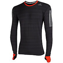 Buy Adidas Supernova Long Sleeve T-Shirt, Black/Orange Online at johnlewis.com