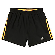 "Buy Adidas Response 5"" Shorts, Black/Gold Online at johnlewis.com"