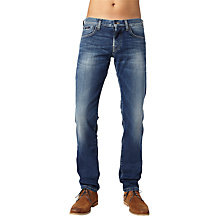 Buy Pepe Jeans Cane Slim Jeans, Medium Blue Online at johnlewis.com
