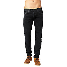 Buy Pepe Jeans Cane Slim Jeans, Washed Black Online at johnlewis.com