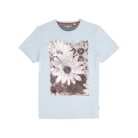 Buy Ted Baker Hessop Flower Print T-Shirt, Light Blue Online at johnlewis.com
