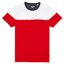 Buy Ted Baker Wilcox Colour Block T-Shirt, Red Online at johnlewis.com