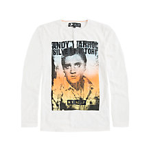 Buy Pepe Jeans Bronx Elvis Long Sleeve Top, Off White Online at johnlewis.com