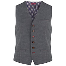 Buy Ted Baker Peasful Jacquard Waistcoat, Navy Online at johnlewis.com