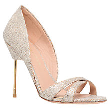 Buy Kurt Geiger Beverley High Heel Sandals, Peach Online at johnlewis.com