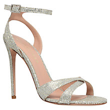 Buy Kurt Geiger Maia Leather High Heel Occasion Sandals, Champagne Online at johnlewis.com