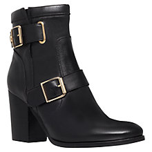 Buy Kurt Geiger Aubrey Leather High Heel Ankle Boots, Black Online at johnlewis.com