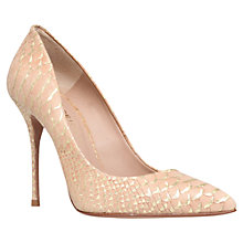 Buy Kurt Geiger Ellen Leather Court Shoes, Gold Combo Online at johnlewis.com