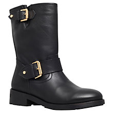 Buy Kurt Geiger Raymond Leather Calf Boots, Black Online at johnlewis.com
