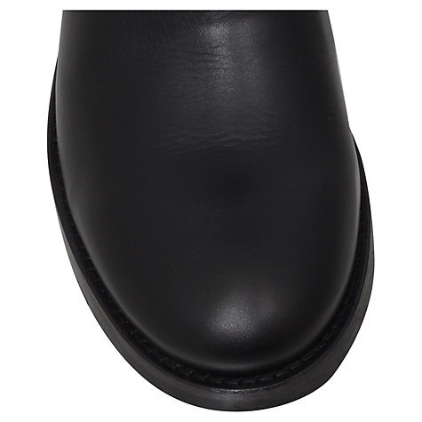 Buy Kurt Geiger Raymond Leather Ankle Boots, Black Online at johnlewis.com