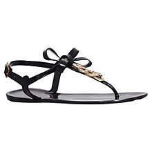 Buy Miss KG Dolly Chain Detail T-Bar Sandals, Black Online at johnlewis.com