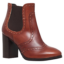 Buy Carvela Simone Leather Block Heeled Ankle Boots, Tan Online at johnlewis.com