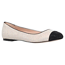 Buy Carvela Lily Flat Diamante Pumps, Nude Online at johnlewis.com