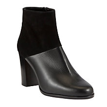 Buy John Lewis Collection Michelle Suede Ankle Boots, Black Online at johnlewis.com