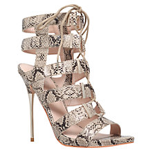 Buy Carvela Gladiator High Heel Occasion Sandals, Beige Online at johnlewis.com