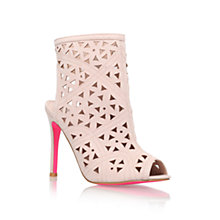 Buy Carvela Gabby Cut Out Detail Shoe Boots, Pink Online at johnlewis.com
