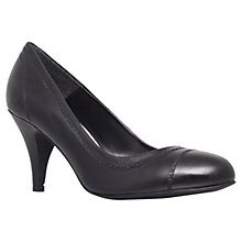 Buy Carvela Admin Leather Court Shoes, Black Online at johnlewis.com