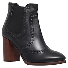 Buy Carvela Simone Leather Block Heeled Ankle Boots, Black Online at johnlewis.com