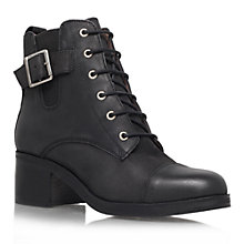 Buy Carvela Staple Lace Up Leather Ankle Boots, Black Online at johnlewis.com