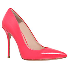 Buy Kurt Geiger Ellen High Heel Patent Leather Court Shoes, Pink Online at johnlewis.com