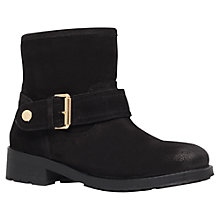 Buy Kurt Geiger Shadow Suede Ankle Boots, Black Online at johnlewis.com