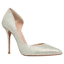 Buy Kurt Geiger Anja Fabric Court Shoes, Champagne Online at johnlewis.com