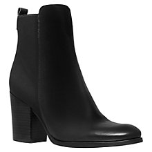 Buy Kurt Geiger Jacob Leather Ankle Boots, Black Online at johnlewis.com