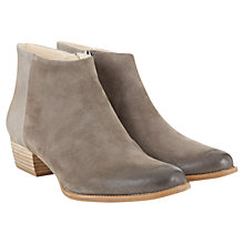 Buy Mint Velvet Eliza Nubuck Ankle Boots, Grey Online at johnlewis.com
