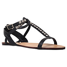 Buy Miss KG Dallas Studded Flat Leather Sandals, Black Online at johnlewis.com
