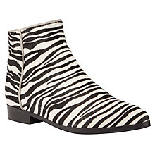 Buy Kin by John Lewis Thirty One Suede Ankle Boots, Zebra Online at johnlewis.com