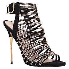 Buy Carvela Strappy Diamante Occasion Shoes, Black Online at johnlewis.com