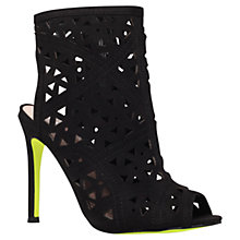 Buy Carvela Gabby Cut Out Detail Shoe Boots, Black Online at johnlewis.com