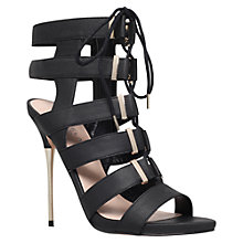 Buy Carvela Gladiator High Heel Occasion Sandals, Black Online at johnlewis.com