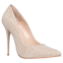 Buy Carvela Gallery Stiletto Court Shoes, Nude Online at johnlewis.com