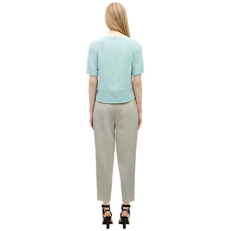 Buy Whistles Tessa Sporty Crepe Top, Pale Blue Online at johnlewis.com