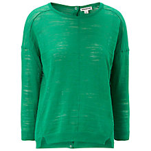 Buy Whistles Slub Knit Button Back Boxy Top, Green Online at johnlewis.com
