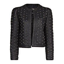 Buy Mango Round Stud Jacket, Black Online at johnlewis.com