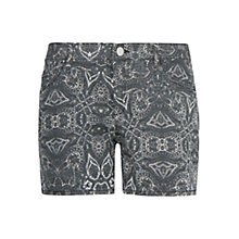 Buy Mango Printed Shorts, Black Online at johnlewis.com