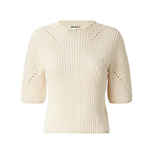 Buy Whistles Adora Transfer Rib Knit Jumper, Ivory Online at johnlewis.com
