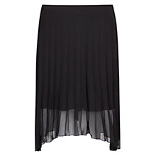 Buy Mango Pleated Chiffon Skirt, Black Online at johnlewis.com
